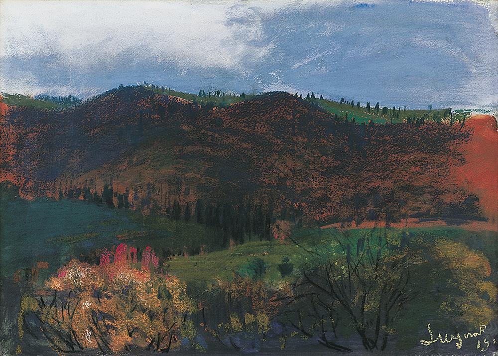 Leon Wyczółkowski, Jesień w górach - pejzaż z Jaremcza, 1910, photo: www.agraart.com.pl
