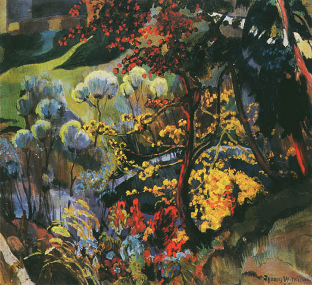 Witkacy, Pejzaż jesienny, 1912, oil on canvas, privately owned.