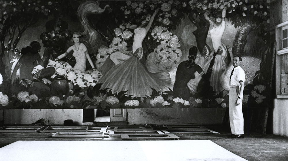 The painting Dance, 1941, Bombay, photo: Regional Museum in Stalowa Wola