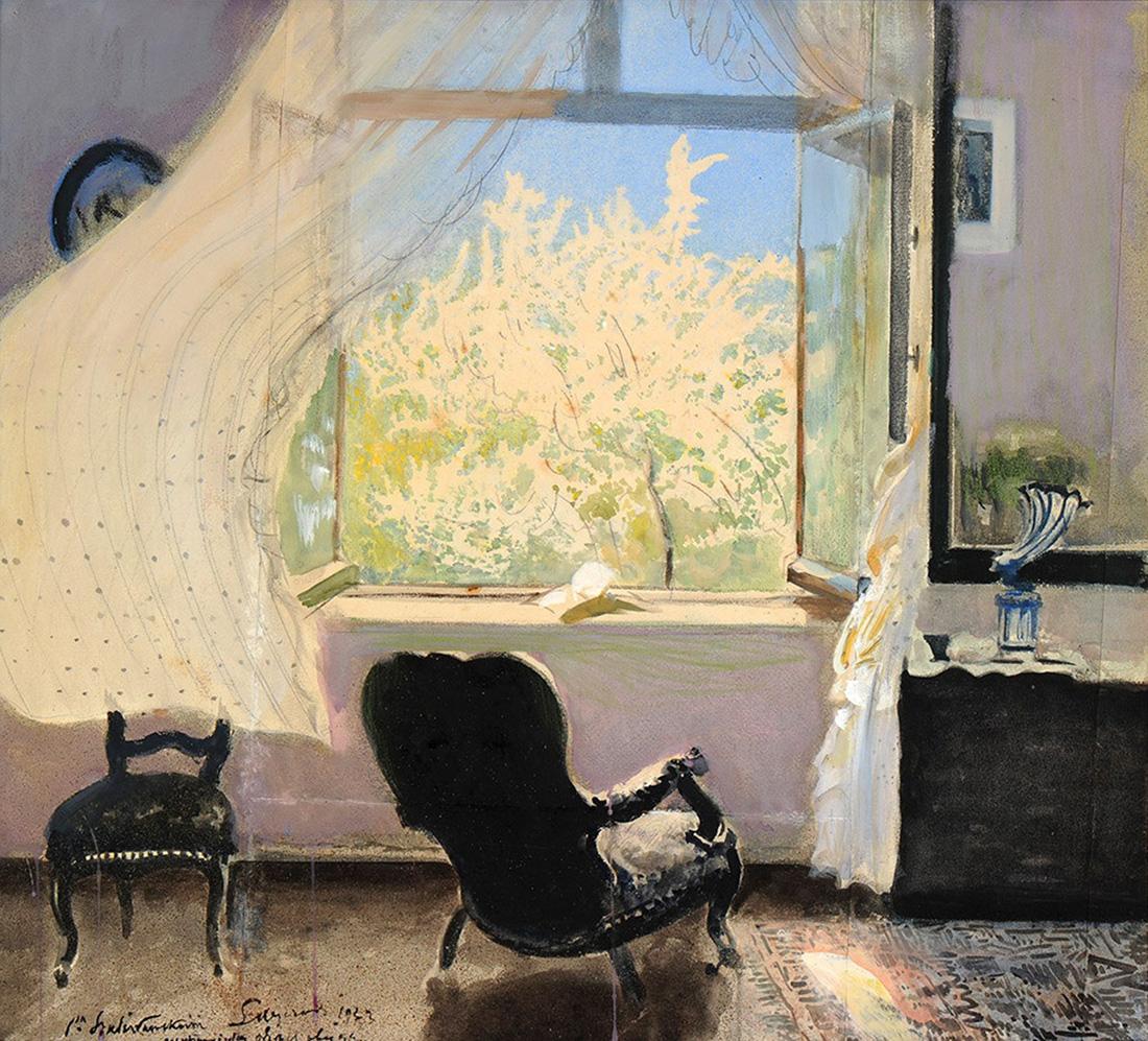 'Wiosna – wnętrze pracowni artysty' (Spring: The Interior of an Artist's Atelier) by Leon Wyczółkowski, 1933, photo: Leon Wyczółkowski Museum in Bydgoszcz