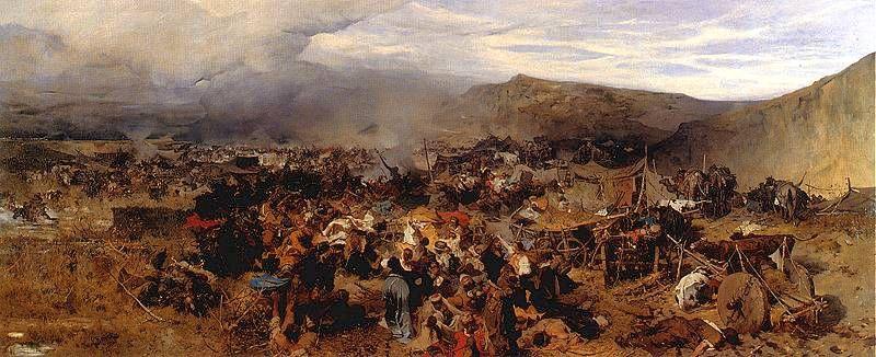 Odbicie Jasyru 1878, olej na płótnie w zbiorach Muzeum Narodowego w Warszawie