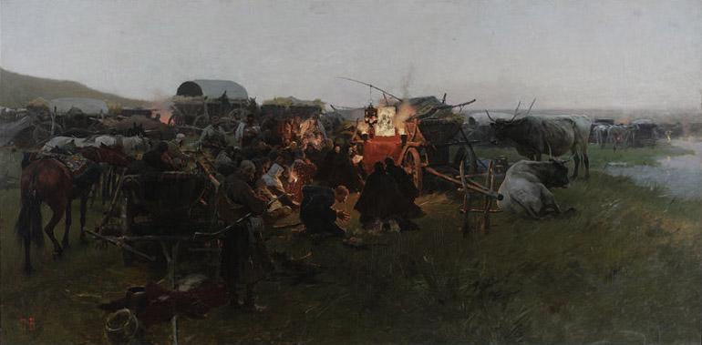 Matka Boska Poczajowska ok. 1890, olej na płótnie, foto T. Żółtowska-Huszcza w zbiorach Muzeum Narodowego w Warszawie