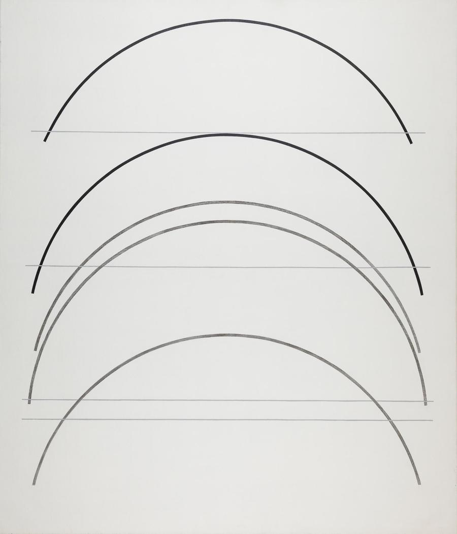 """Jerzy Kałucki, """"Trzydzieścidziewięć, czterdzieściosiem"""", akryl, płótno, 1997, fot. ze zbiorów Muzeum Sztuki Współczesnej MOCAK / www.mocak.pl"""
