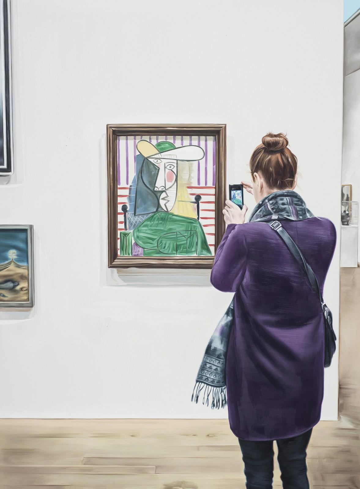 """Marcin Maciejowski, """"Bust of a Woman, 1944"""", 2014, olej na płótnie, 190 x 140 cm, fot. dzięki uprzejmości Galerii Raster"""