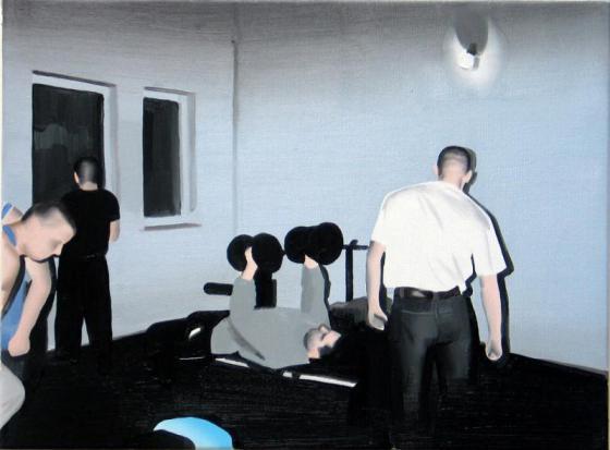 """Marcin Maciejowski, """"Siłownia"""", 2005, własn. Kolekcja Susan D. Goodman, Nowy Jork"""