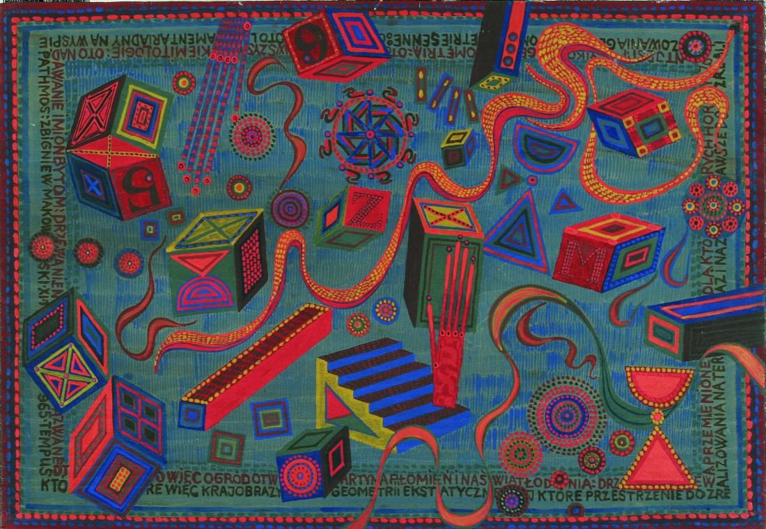 Lament Ariadny na wyspie Pathos 1965 tempera, deska 39x57 cm w zbiorach Muzeum Narodowego we Wrocławiu fot. pracownia fotograficzna MNWr