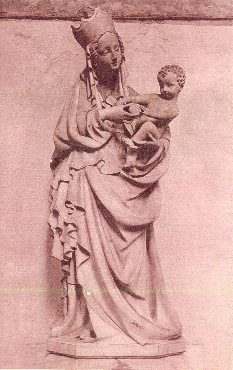 Anonymous, sculpture of Madonna and Child, source: muzeumutracone.pl