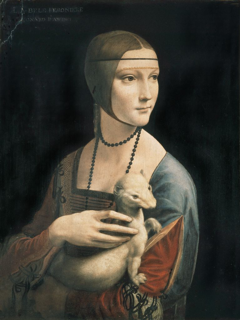 Leonardo da Vinci, Lady with an Ermine, circa 1490, photo: National Museum in Kraków