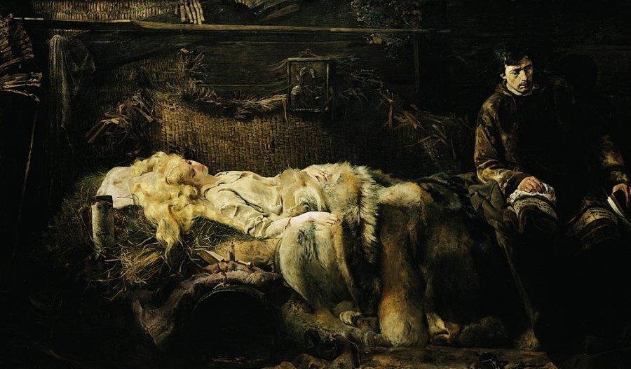 Jacek Malczewski, Śmierć Ellenai, 1883, olej na płótnie, dzięki uprzejmości Muzeum Narodowego w Krakowie
