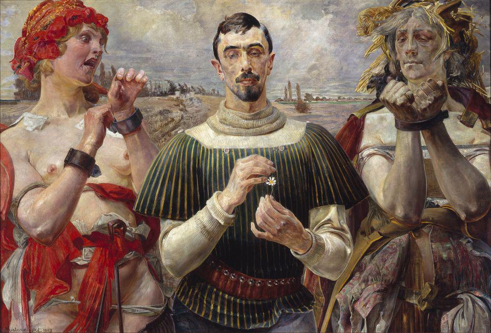 Jacek Malczewski, Hamlet Polski - Portret Aleksandra Wielopolskiego, 1903, olej na płótnie, w zbiorach Muzeum Narodowego w Warszawie