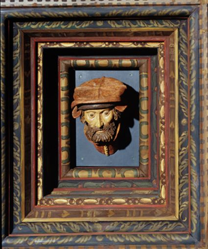 Decoration of the ceiling in the Deputies Chamber in Wawel Royal Castle (one of the so-called 'Wawel heads'), fragment, made by Sebastian Tauberach (1535), reconstructed in the 20th century, photo: courtesy of the Wawel Royal Castle