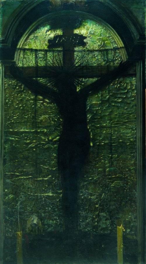 Leon Wyczółkowski, Krucyfiks wawelski, 1896, olej na płótnie, dzięki uprzejmości Muzeum Narodowego w Krakowie