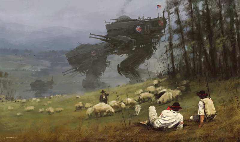 1920 - Kosciuszko Squadron by Jakub Różalski, photo: www.artstation.com