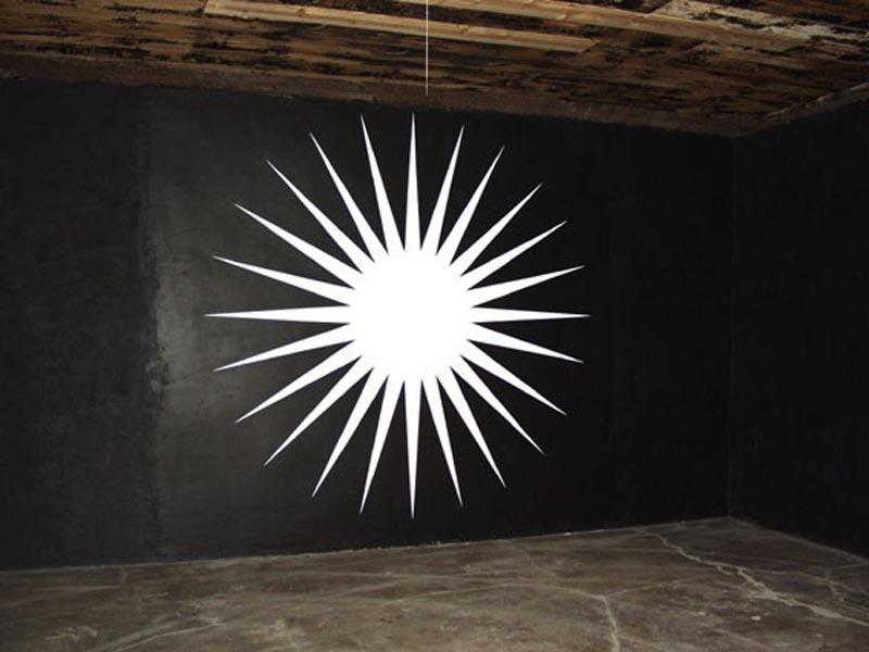 """Jarosław Fliciński, """"White star""""2002, Chinati Foundation, Marfa"""