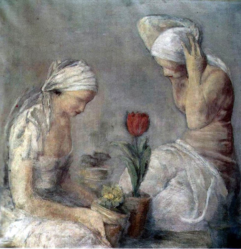 """Leopold Gottlieb, """"Kobiety i tulipan"""", 1934, olej na płótnie, fot. dzięki uprzejmości Muzeum Narodowego w Krakowie"""
