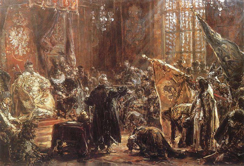 «Царь Шуйский в Сейме в Варшаве» — одна из малоизвестных работ мастера
