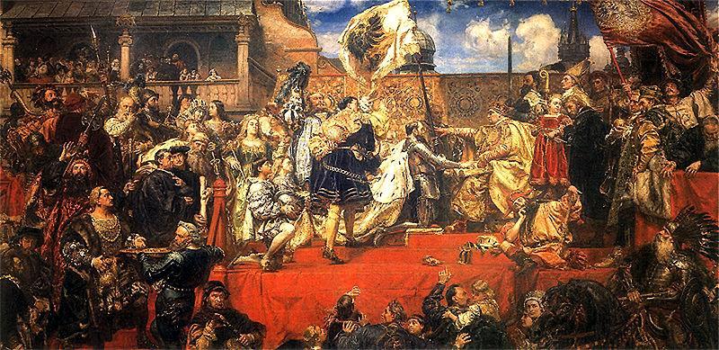 Ян Матейко, «Прусская дань» (1882) — картина, которую критиковали за варварское использование красного цвета