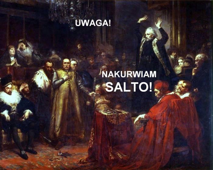 Интернет-мем из картины «Проповедь Петра Скарги»