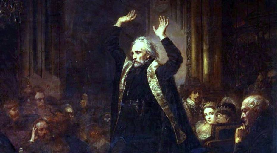 Ян Матейко, «Проповедь Скарги», 1862 – 1864 гг.