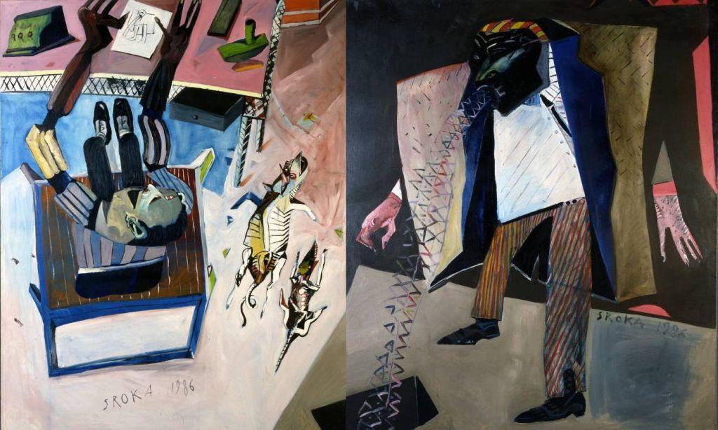 """Jacek Sroka, """"Życie powszednie i artystyczne"""", z cyklu """"Przypadki agenta Tajnej Policji Państwowej"""", 1986, fot. dzięki uprzejmości artysty"""
