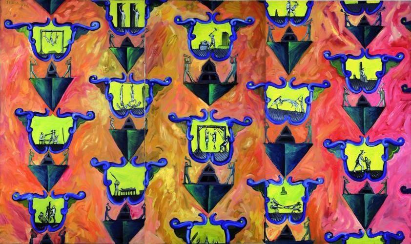 """Jacek Sroka, """"Tapeta w tortury"""", 1992, fot. dzięki uprzejmości artysty"""