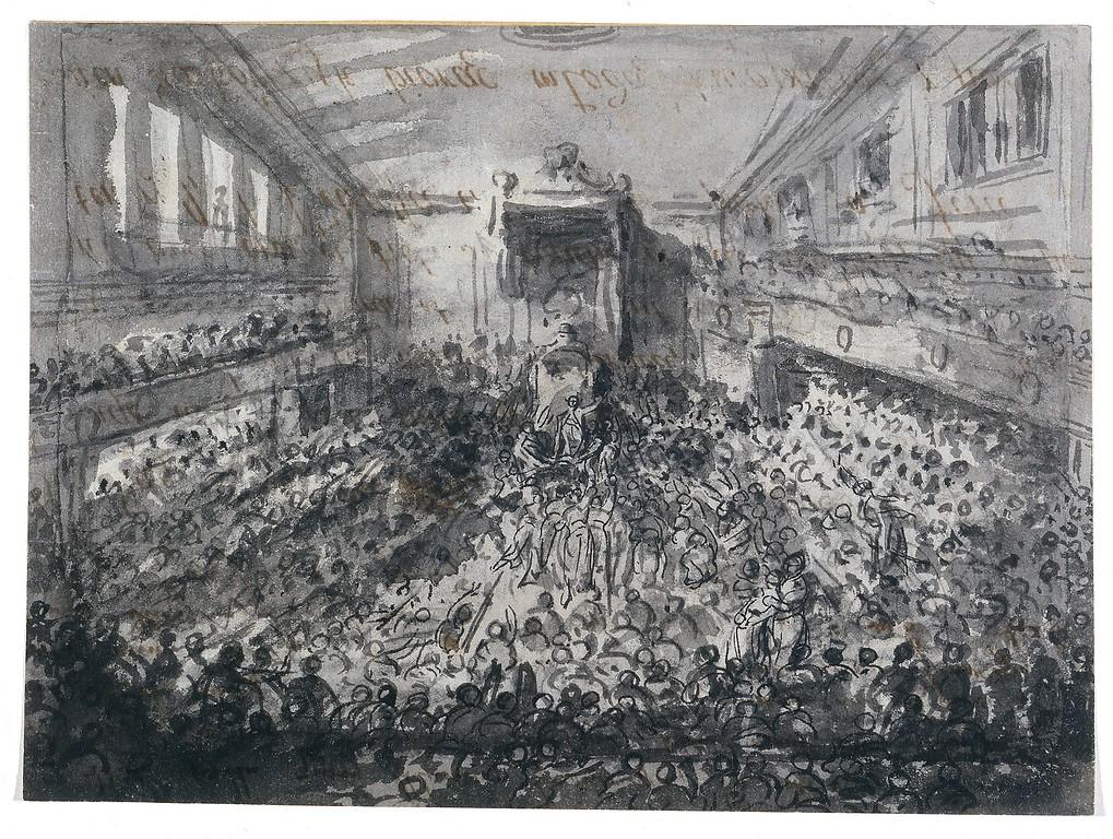 Uchwalenie Konstytucji 3 maja 1791, Jean-Pierre Norblin de la Gourdaine (1745-1830), po 1791, rysunek