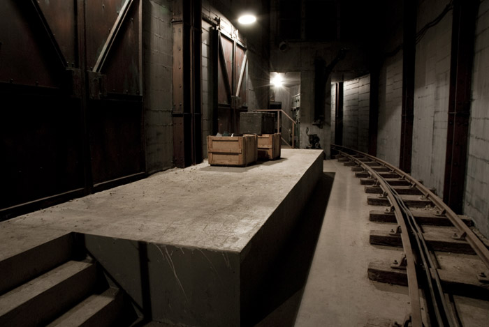 Robert Kuśmirowski, Bunker, 2009. The Curve, Barbican Art Gallery-photo:Alistair Ramsay. Courtesy Barbican Art Gallery