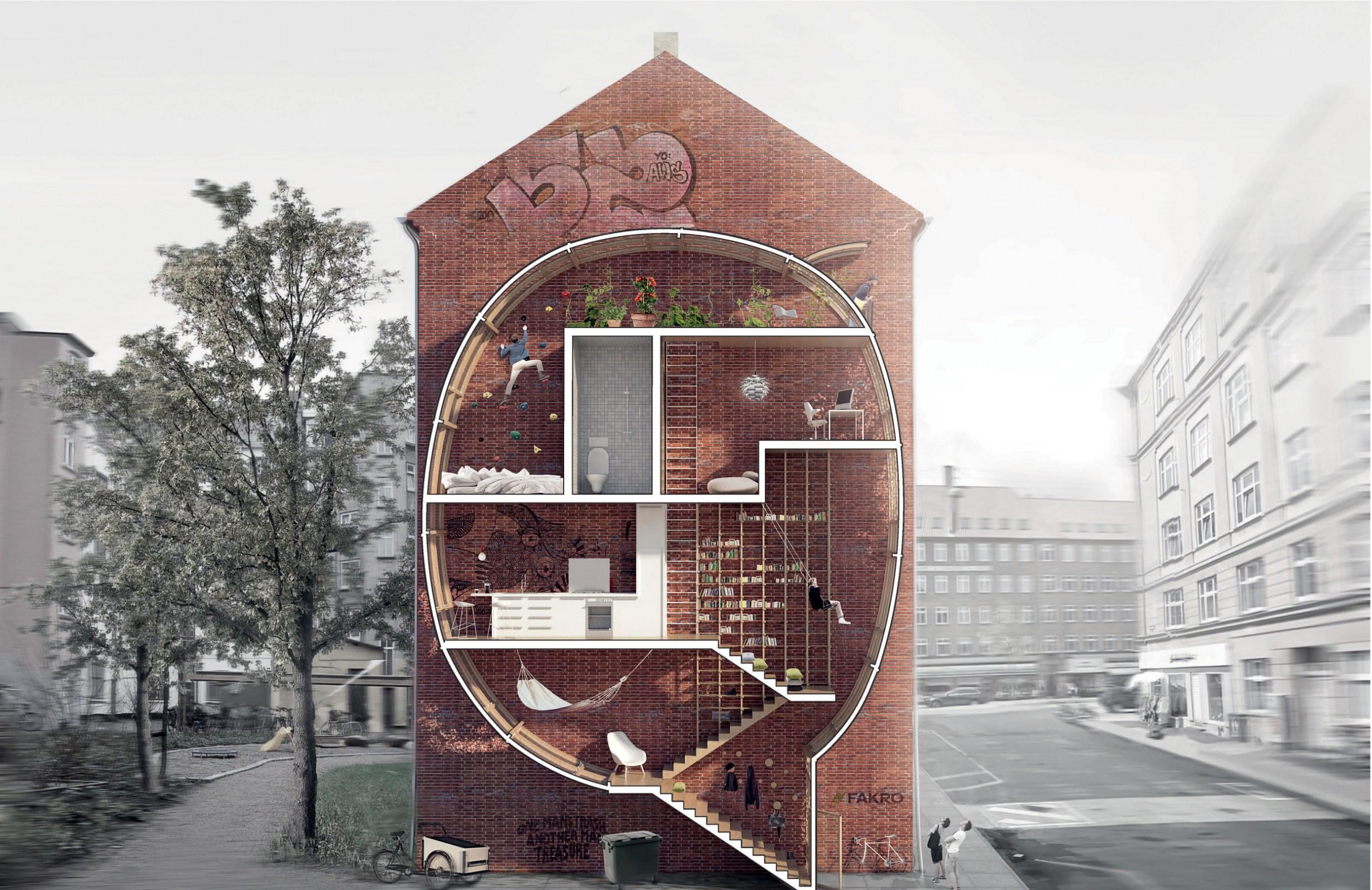 """Ole Robin Storjohann, Mateusz Mastalski """"Żyj między budynkami!"""" - I nagroda w konkursie New Vision of the Loft, fot. dzięki uprzejmości artystów"""