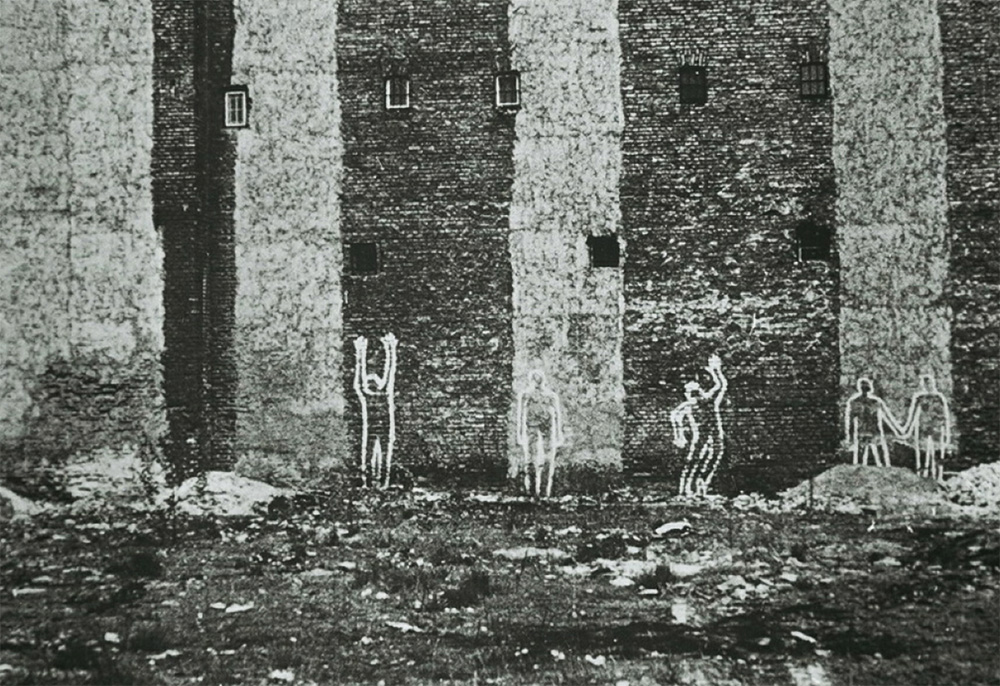 Włodzimierz Fruczek, Figures on the Wall, 1970, corner of Grzybowska and Żelazna Streets, photo: Tomasz Sikorski