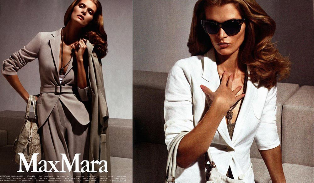 Małgorzata Bela, Max Mara, summer/spring 2010, photo: producer's press materials / https://pl.maxmara.com