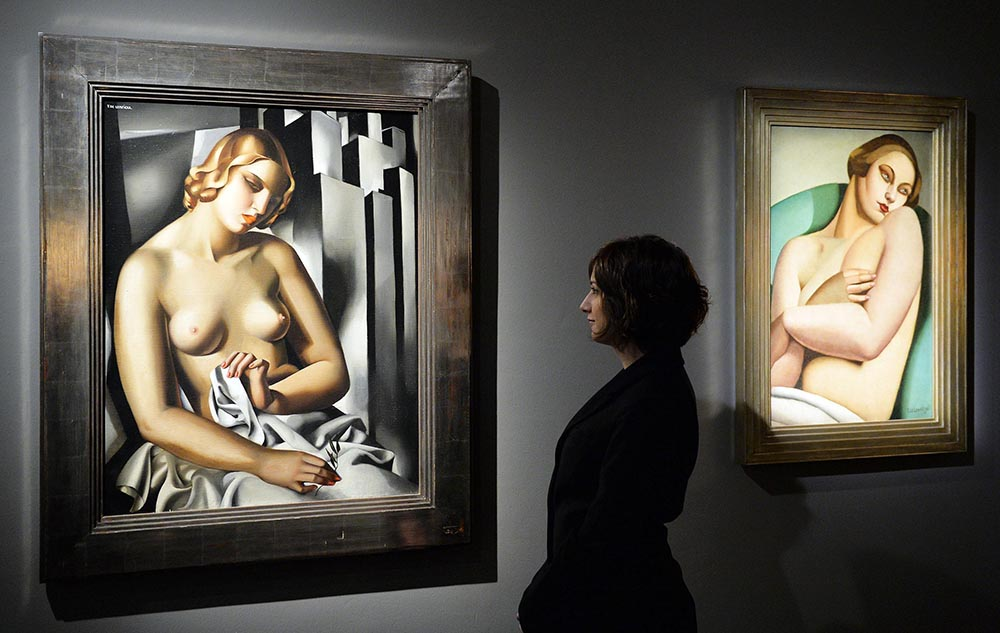 An image of the exhibition 'Tamara De Lempicka', Turin, 18 March 2015, photo: ALESSANDRO DI MARCO