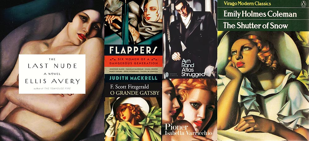 Tamara Łempicka on novel covers: courtesy of the publishing houses