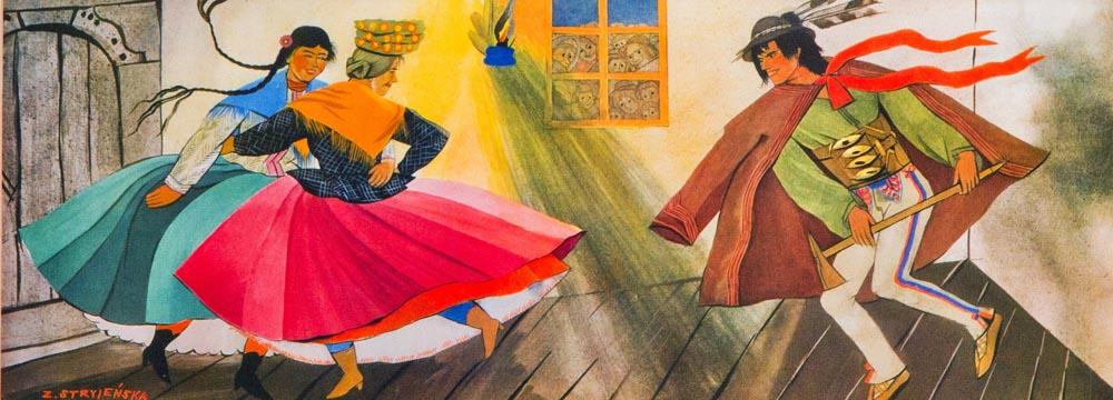 Zofia Stryjeńska, coloured serigraph, Gallery of 20th Century Polish Art, Tatra Museum, Zakopane, photo: Tomasz Wierzejski / FOTONOVA /East News