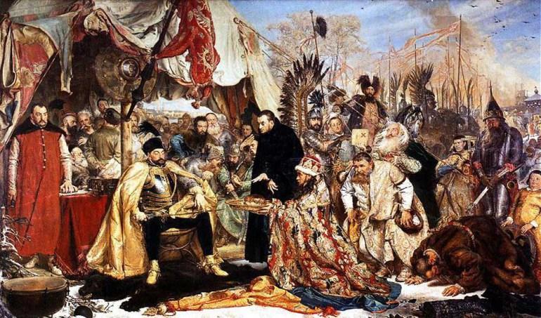 """Jan Matejko, """"Stefan Batory pod Pskowem"""", 1872, olej na płótnie, fot. Zamek Królewski w Warszawie"""