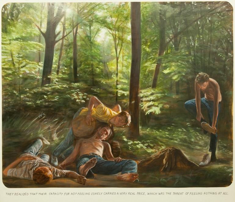 Muntean/Rosenblum, bez tytułu [They realized that their capacity…], 2011, olej / płótno, 190 x 220 x 5 cm, Kolekcja MOCAK-u