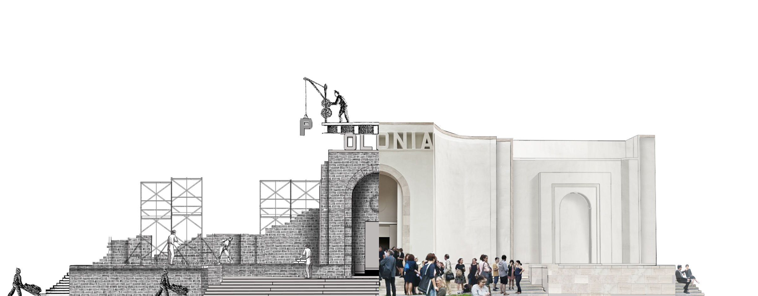 Visualisation of the project Double Facade, photo: courtesy of Zachęta