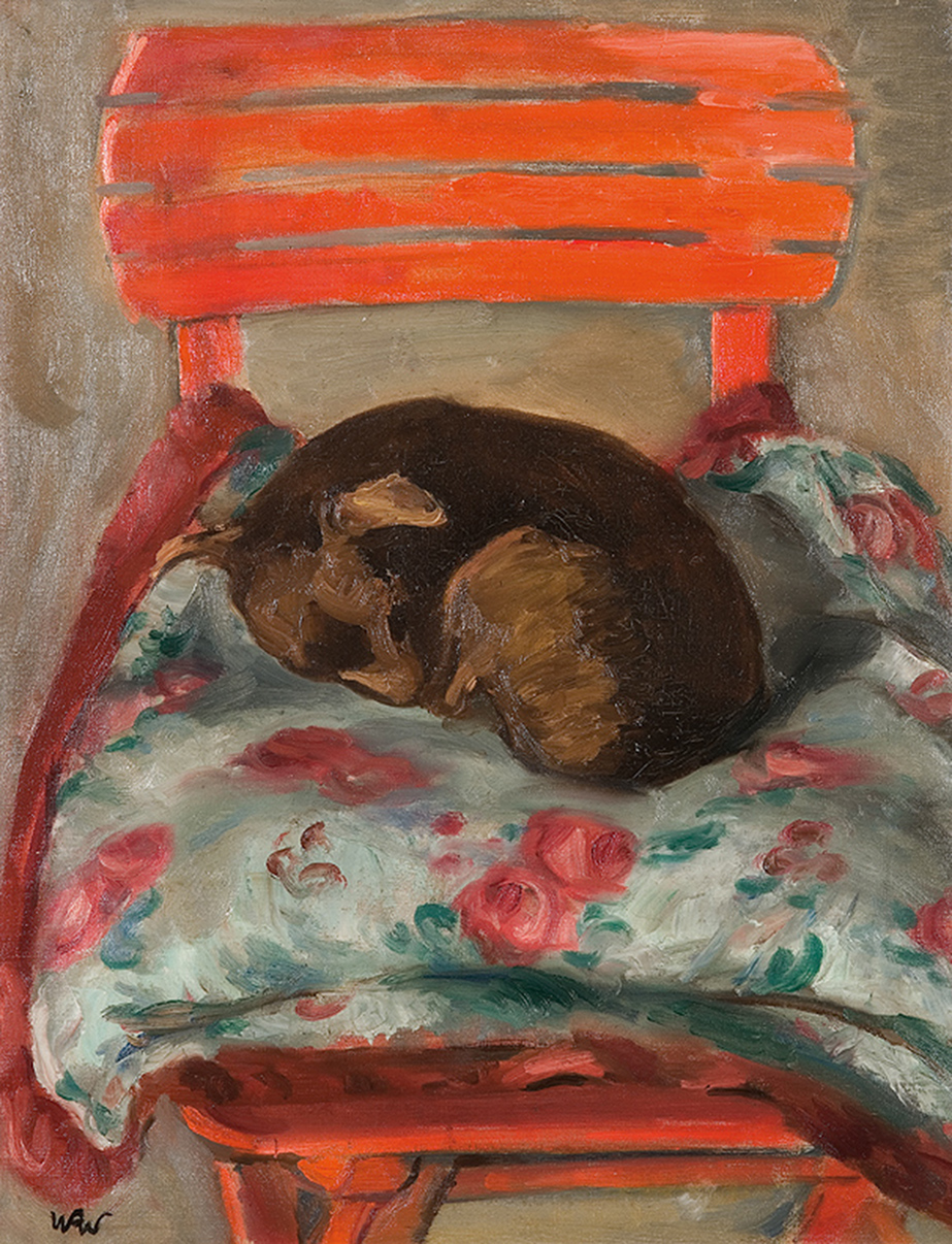 Kiki, Śpiący Piesek or Kiki the Sleeping Doggy by Wojciech Weiss, ca. 1937, photo: www.agraart.pl