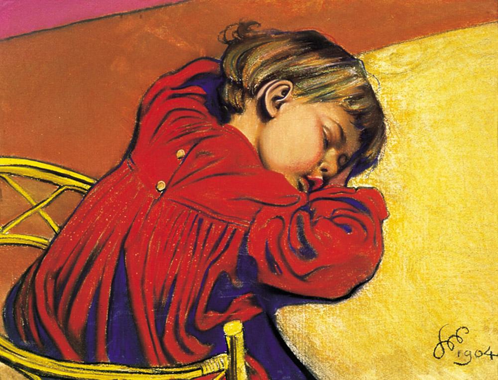 f79147d7f Śpiący Staś or Sleeping Staś by Stanisław Wyspiański, 1904, image: Maciej  Musiał/