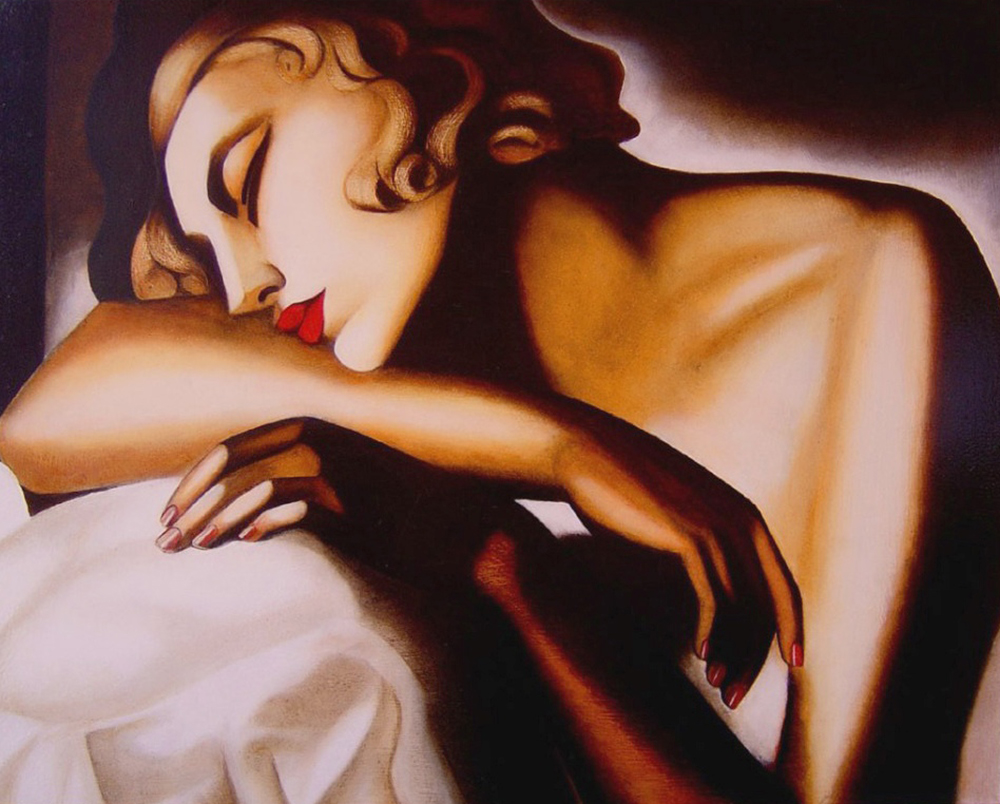 La Dormeuse or The Sleeper by Tamara Łempicka, 1930, photo: wikiart.org