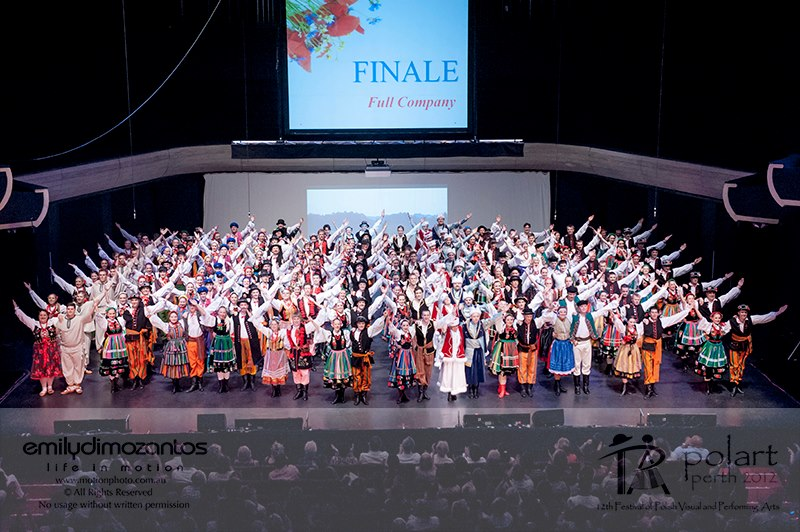 Finale of PolArt in Perth, 2012, photo: courtesy of the band