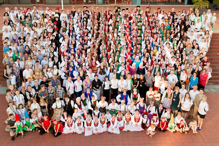 Participants and organisers of PolArt 2012, Perth, photo: courtesy of the band