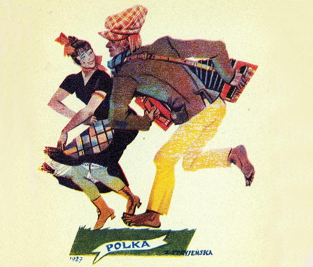 Polka, an illustration by Zofia Stryjeńska from her series Tańce Polske or Polish Dances, 1927, image: FoKa/Forum