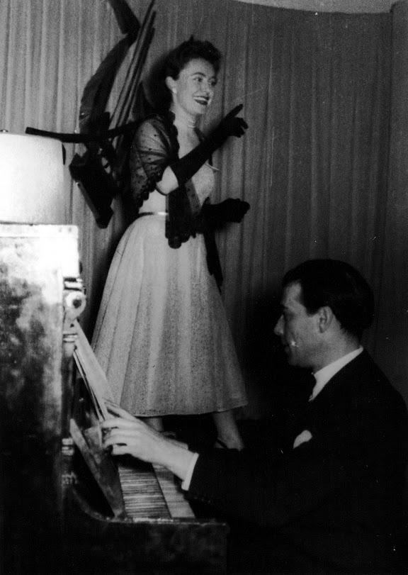 Kaya Mirecka, występ estradowy w Mannheim, lata 50. XX wieku