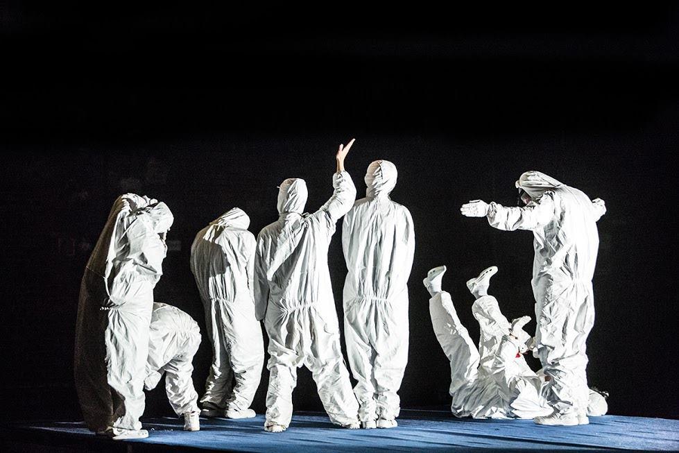 """""""Państwo"""", reż. Krzysztof Garbaczewski, fot. Teatr Polski - w podziemiu"""