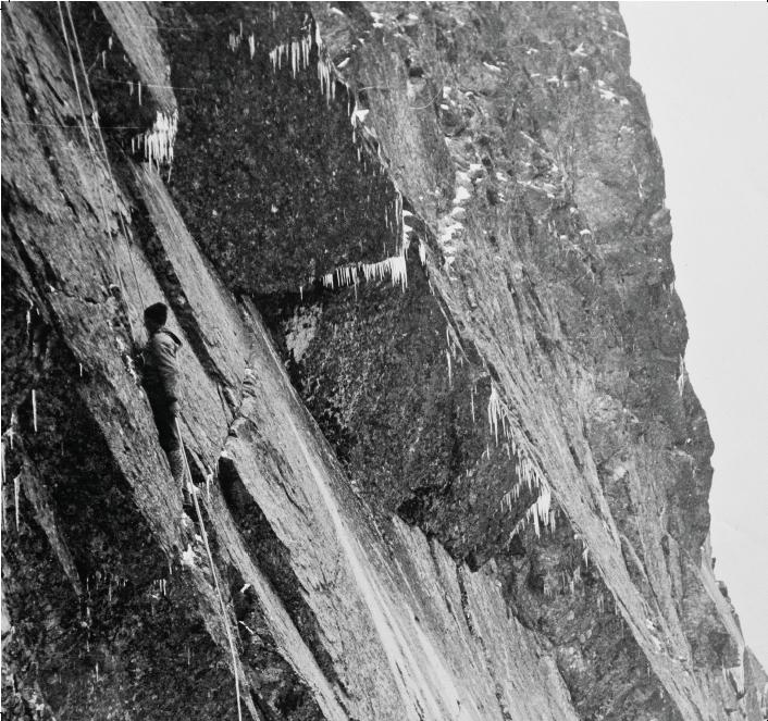 1934r. Paweł Fogel, Zjazd uskokiem wschodnich Żelaznych Wrót
