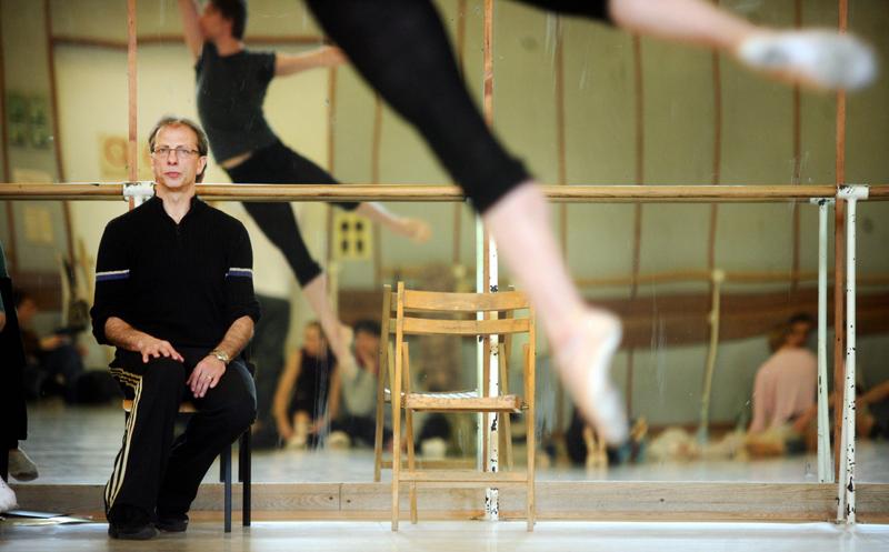 """Krzysztof Pastor podczas próby baletu """"Tristan"""", Teatr wielki - Opera Narodowa, fot. Alina Gajdamowicz /AG"""