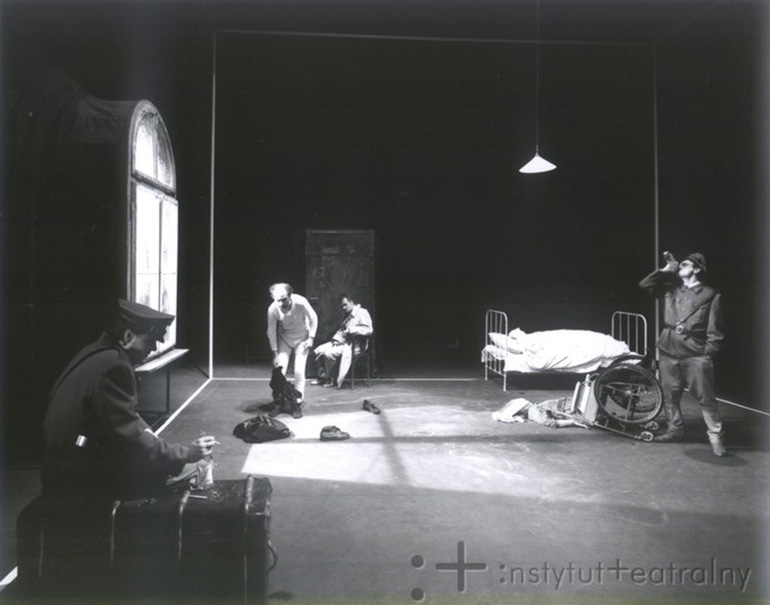 """Photograph from the performance of """"The Lime Works"""", photo: Instytut Teatralny"""