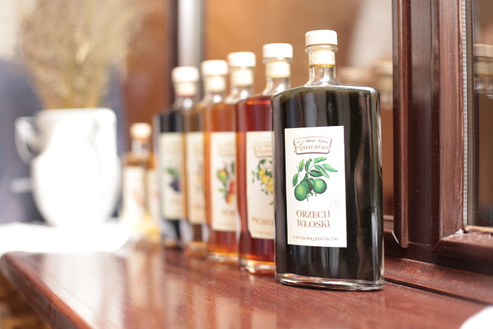 Selection of fruit liqueurs made by Greater Poland's best local manufacturer Hieronim Blazejak
