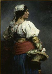 """""""Kwiaciarka włoska"""", 1882, olej na płótnie, w zbiorach Muzeum Narodowego w Warszawie"""