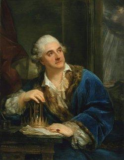 Portret Króla Stanisława Augusta z klepsydrą 1793, olej na płótnie w zbiorach Muzeum Narodowego w Warszawie